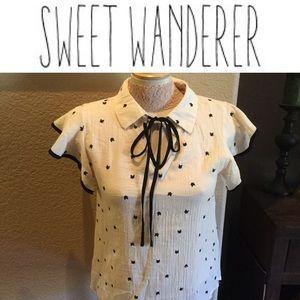 Sweet Wanderer Cat Top